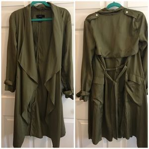 Army Green Trench Coat size S
